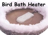 bird bath heater and de-icer