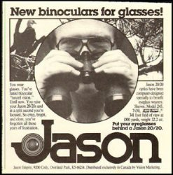 old jason binoculars renamed Bushnell Perma Focus or Focus Free