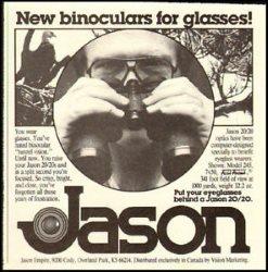 old jason binoculars renamed Bushnell Perma Focus or Focus Free