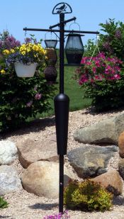 squirrel stopper bird feeder pole with baffle