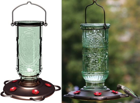 vintage antique hummingbird feeder