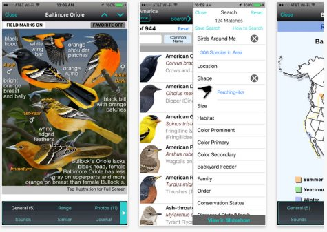 best birding apps for iPhone, iPad, iOS and Android