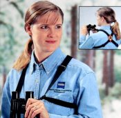 Using a binocular harness will keep your binoculars better protected and is more comfortable