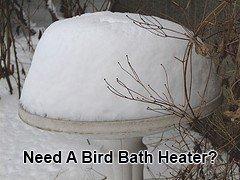 Bird Bath Heaters and De-Icers Keep Bird Baths Ice-Free
