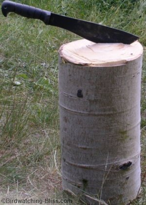 how to build a birdhouse from log