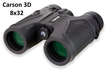 8x32 Carson compact binoculars with ED glass