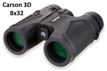 8x32 Carson compact binoculars with ED glass