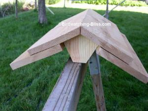 free bird feeder plans roof