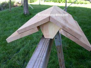 free bird feeder plans roof