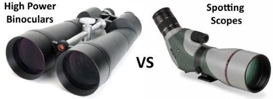 high power binoculars vs spotting scope