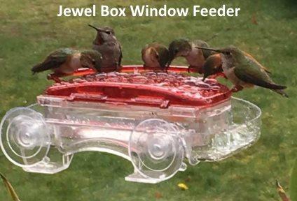 hummzinger jewel box window hummingbird feeder