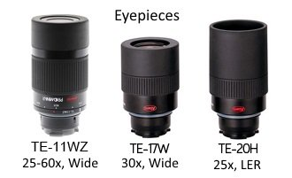 Kowa Spotting Scope eyepieces TSN-11WZ, TE-17W, TE-20H
