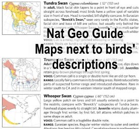 national geographic bird field guide range maps
