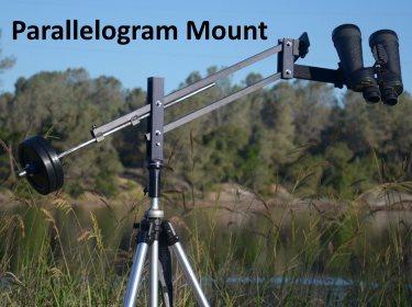 parallelogram binocular mount for astronomical observations