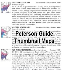 peterson field guide to birds thumbnail maps