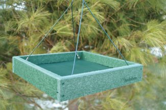 platform bird feeder recycled plastic