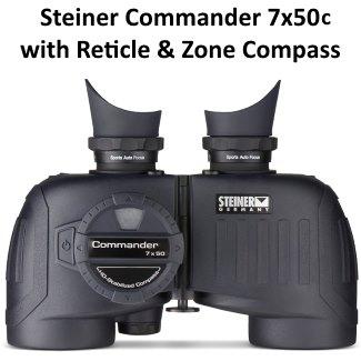 steiner commander 7x50c marine binoculars with compasss