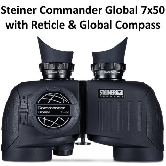 steiner commander global marine binoculars 7x50 with reticle and compass