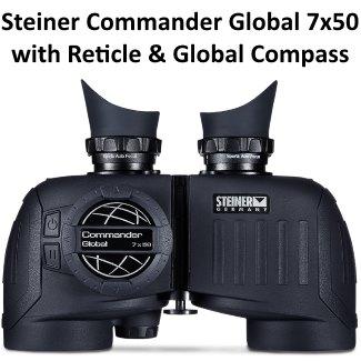steiner commander global marine binoculars 7x50 with reticle and compass