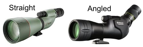 Straight or angled bird watching spotting scopes