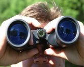 finding birds with binoculars